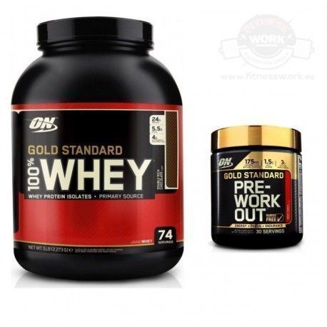 Optimum Nutrition Whey Gold 2.2 Kg + Pre-entreno